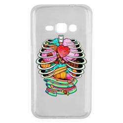 Чохол для Samsung J1 2016 Сandy inside the skeleton