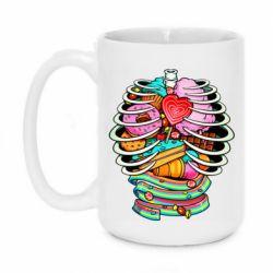 Кружка 420ml Сandy inside the skeleton