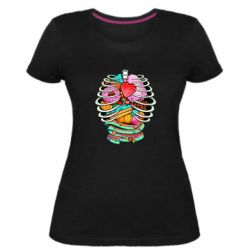 Жіноча стрейчева футболка Сandy inside the skeleton