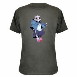 Камуфляжна футболка Sans smile