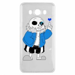 Чохол для Samsung J7 2016 Sans with heart