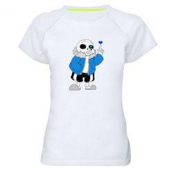 Жіноча спортивна футболка Sans with heart