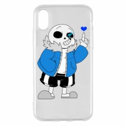 Чохол для iPhone X/Xs Sans with heart