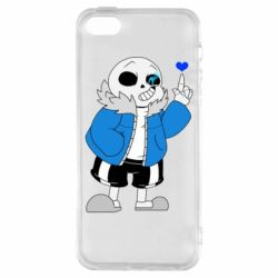 Чохол для iphone 5/5S/SE Sans with heart