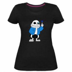Жіноча стрейчева футболка Sans with heart