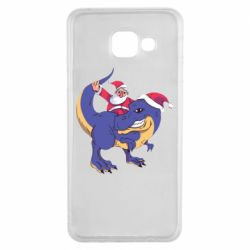 Чехол для Samsung A3 2016 Santa and T-Rex