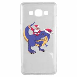 Чехол для Samsung A5 2015 Santa and T-Rex