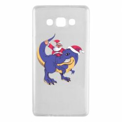 Чехол для Samsung A7 2015 Santa and T-Rex