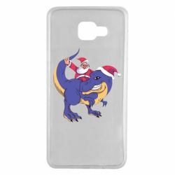 Чехол для Samsung A7 2016 Santa and T-Rex
