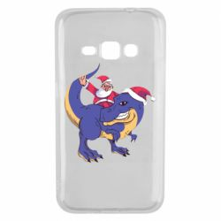 Чехол для Samsung J1 2016 Santa and T-Rex