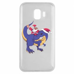 Чехол для Samsung J2 2018 Santa and T-Rex
