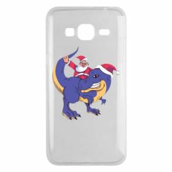 Чехол для Samsung J3 2016 Santa and T-Rex