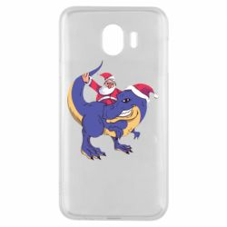 Чехол для Samsung J4 Santa and T-Rex