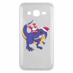 Чехол для Samsung J5 2015 Santa and T-Rex