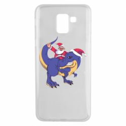 Чехол для Samsung J6 Santa and T-Rex