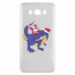 Чехол для Samsung J7 2016 Santa and T-Rex