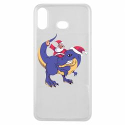 Чехол для Samsung A6s Santa and T-Rex