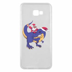Чехол для Samsung J4 Plus 2018 Santa and T-Rex
