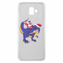 Чехол для Samsung J6 Plus 2018 Santa and T-Rex