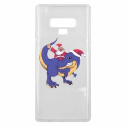 Чехол для Samsung Note 9 Santa and T-Rex