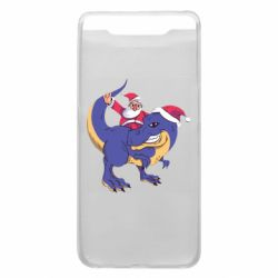 Чехол для Samsung A80 Santa and T-Rex