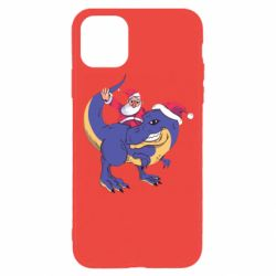 Чехол для iPhone 11 Pro Santa and T-Rex