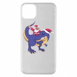 Чехол для iPhone 11 Pro Max Santa and T-Rex