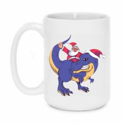 Кружка 420ml Santa and T-Rex