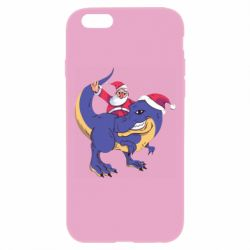 Чехол для iPhone 6 Plus/6S Plus Santa and T-Rex