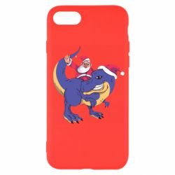 Чехол для iPhone 7 Santa and T-Rex
