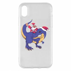 Чехол для iPhone X/Xs Santa and T-Rex