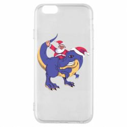 Чехол для iPhone 6/6S Santa and T-Rex