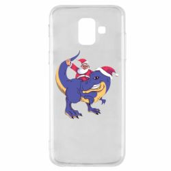 Чехол для Samsung A6 2018 Santa and T-Rex