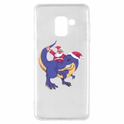 Чехол для Samsung A8 2018 Santa and T-Rex