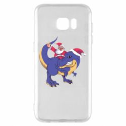 Чехол для Samsung S7 EDGE Santa and T-Rex