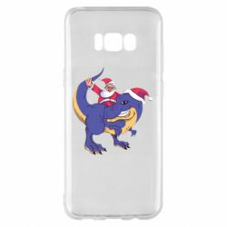 Чехол для Samsung S8+ Santa and T-Rex
