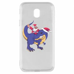 Чехол для Samsung J3 2017 Santa and T-Rex