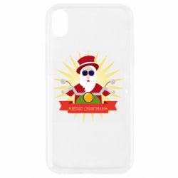 Чехол для iPhone XR Santa biker