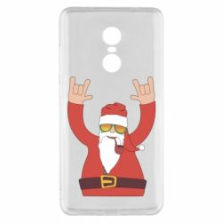 Чохол для Xiaomi Redmi Note 4x Santa Claus with a tube