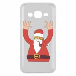 Чохол для Samsung J2 2015 Santa Claus with a tube