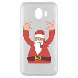 Чохол для Samsung J4 Santa Claus with a tube