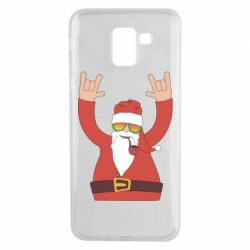 Чохол для Samsung J6 Santa Claus with a tube