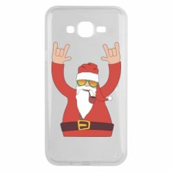 Чохол для Samsung J7 2015 Santa Claus with a tube