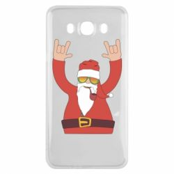 Чохол для Samsung J7 2016 Santa Claus with a tube