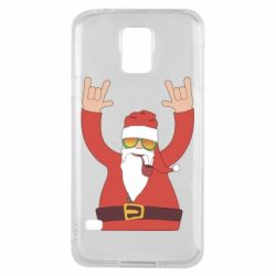 Чохол для Samsung S5 Santa Claus with a tube
