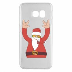 Чохол для Samsung S6 EDGE Santa Claus with a tube