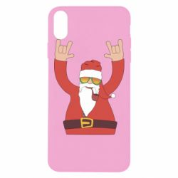 Чохол для iPhone Xs Max Santa Claus with a tube