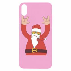 Чохол для iPhone X/Xs Santa Claus with a tube