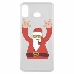 Чохол для Samsung A6s Santa Claus with a tube