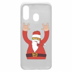 Чохол для Samsung A40 Santa Claus with a tube
